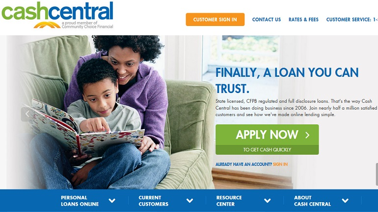 cashcentral payday loans
