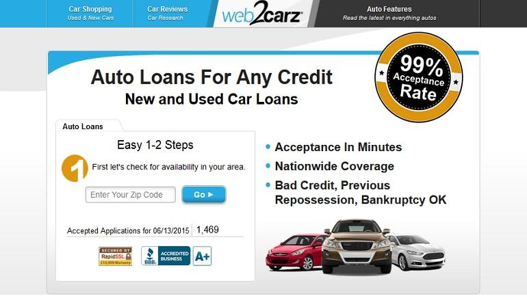 web2carz auto loans
