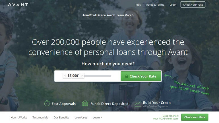 how to get a loan with avant credit