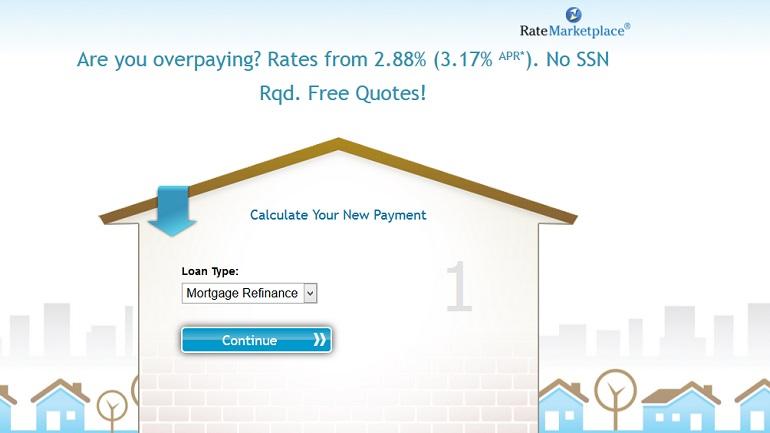 ratemarketplace mortgage loans