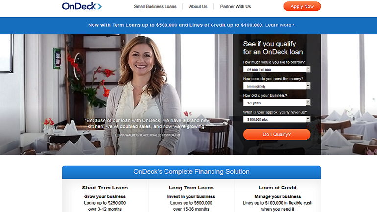 ondeck loans rates
